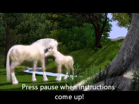 Get A Unicorn On Sims 3 Pets (easy Cheat)
