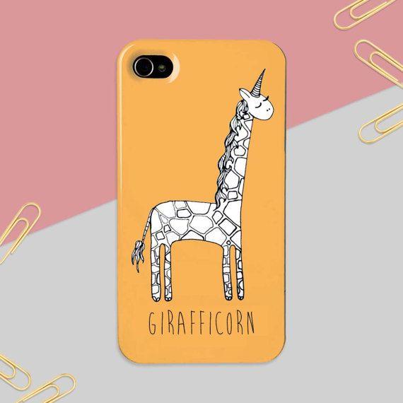 Giraffe Unicorn Iphone Case