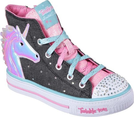 Girls Skechers Twinkle Toes Shuffles Prancing Pretty High Top