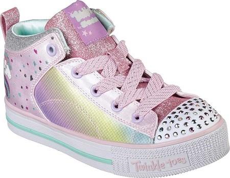 Girls Skechers Twinkle Toes Twinkle Lite Unicorn Chic High Top