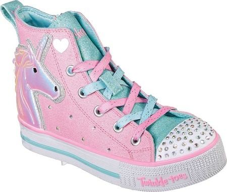 Girls Skechers Twinkle Toes Twinkle Lite Unicorn Friends High Top