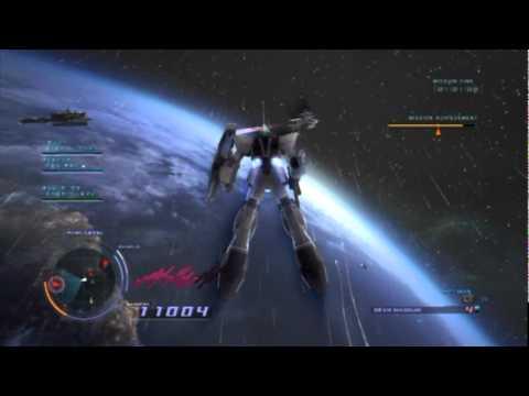 Gundam Unicorn Gameplay (ps3)  Custom Cast Mission 3 (w