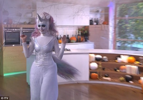 Holly Willoughby Throws Leather Jacket Over Unicorn Outfit