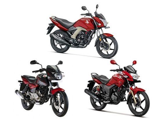Honda Unicorn 160 Vs Bajaj Pulsar 150 Vs Hero Hunk Spec Comparison