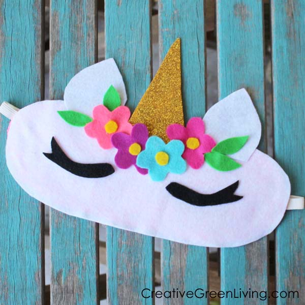 How To Make A Unicorn Horn Sleep Mask From A Recycled T