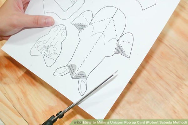 How To Make A Unicorn Pop Up Card (robert Sabuda Method)