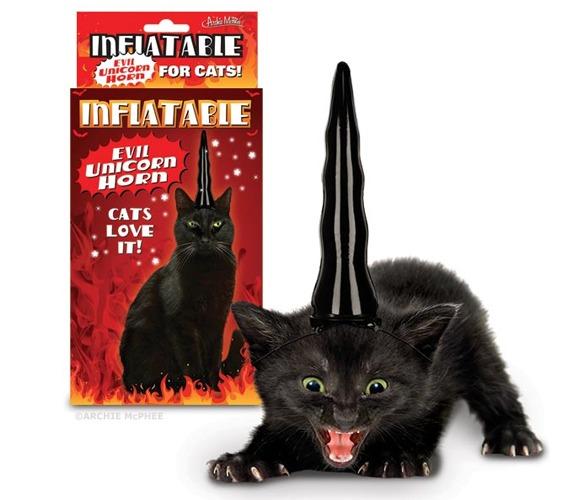 Yesssss  Evil Unicorn Horn For Cats