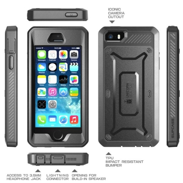 Iphone 5 5s Unicorn Beetle Pro Full Body Rugged Holster Case With
