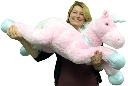 Large Stuffed Unicorn 37 Inches Wide Superior Quality Soft Big