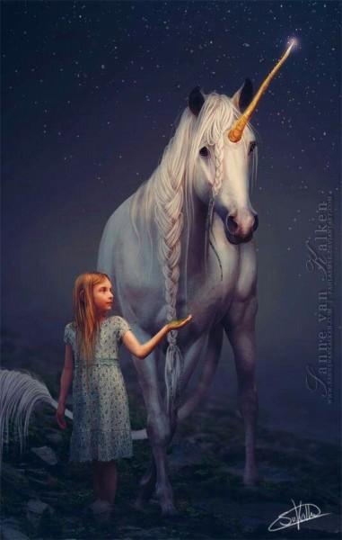 Little Girl With Unicorn