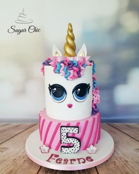 Lol Surprise Doll Unicorn Cake