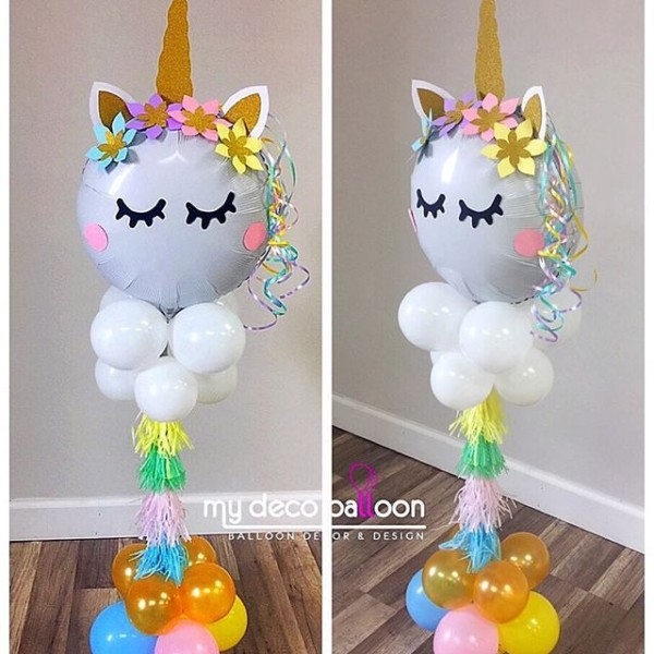Loving This Unicorn Balloon Centerpiece ❤    Mydecoballoon