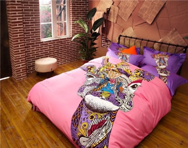 Luxury Horse Unicorn Bedding Set Kids 100  Cotton Cat Deer Camel