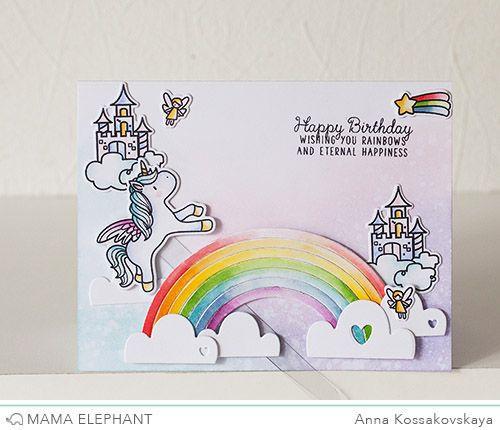 Mama Elephant February Stampede @akossakovskaya  Cardmaking
