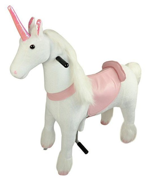 Mechanical Ride On Unicorn Simulated Horse Riding On Toy Ride