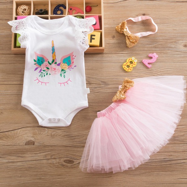 New Baby Girls Clothes Infant 1 Year 1st Birthday Outfits Fancy