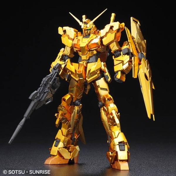 New Gundam Base Exclusive Rg Unicorn Gundam [gold Coating]   Gunpla