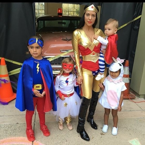 North As A Unicorn And Kourtney's Family As Superheroes
