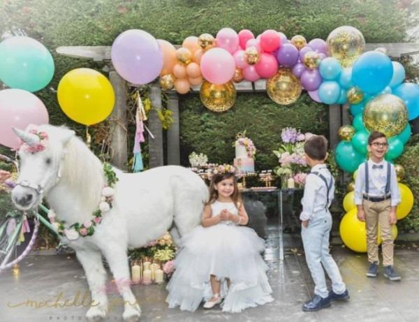 Outdoor Unicorn Birthday Party Idea