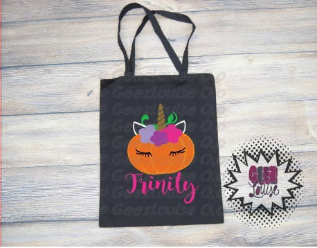 Personalized Halloween Trick Or Treat Bag Monogram Candy Ghost