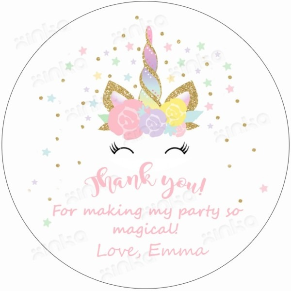 Personalized Unicorn Face Thank You Stickers Christmas Gifts 2018
