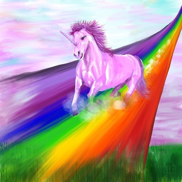 Pink Fluffy Unicorns Dancing On Rainbows   Pfudor