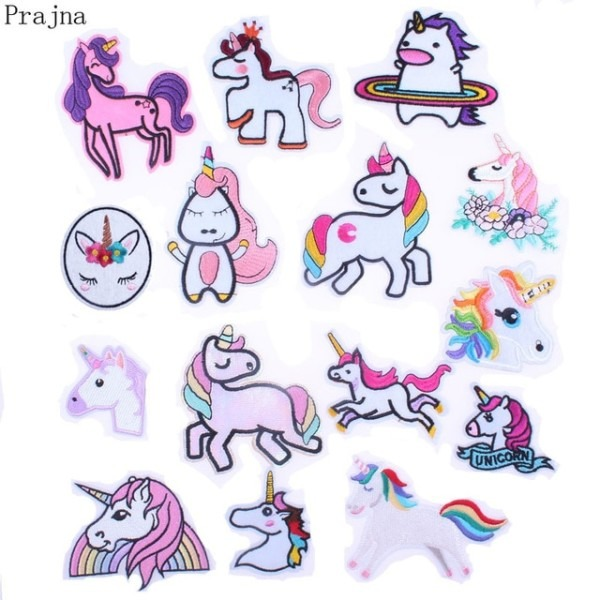 Prajna Cat Unicorn Wings Horse Patch Iron Sewing Cartoon Iron On