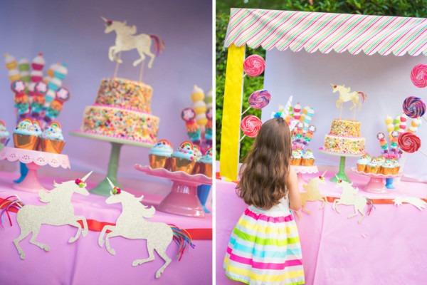 Rainbow And Unicorn Birthday Party Via Blossom