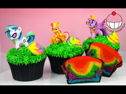 Rainbow Unicorn Poop Cupcakes