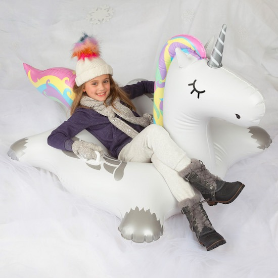 Rainbow Unicorn Snow Tube