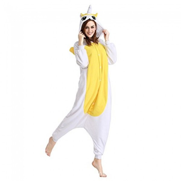 Regenboghorn Yellow Unicorn Pyjamas Children Unicorn Onesie