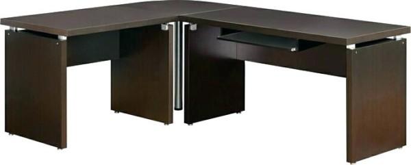 Reversible Corner Desk Reversible Corner Desk Coaster 3 Espresso