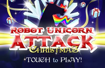 Robot Unicorn Attack Christmas Edition Iphone Game