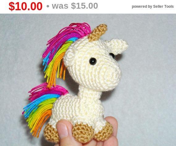 Sales Amigurumi Unicorn Kawaii Toy Unicorn Crochet Unicorn Plush