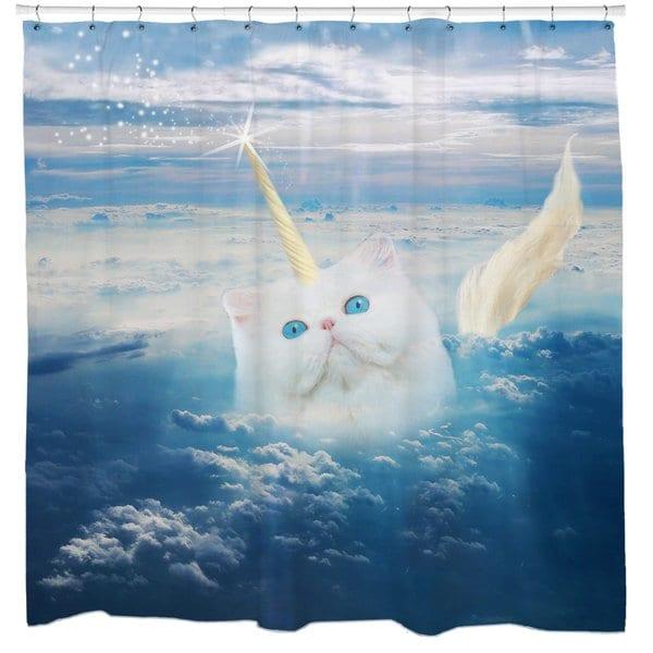 Shop Caticorn Cat Unicorn Shower Curtain
