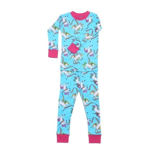 Shop New Jammies Unisex Blue Rainbow Unicorns 2 Pc Sleepwear Set 7