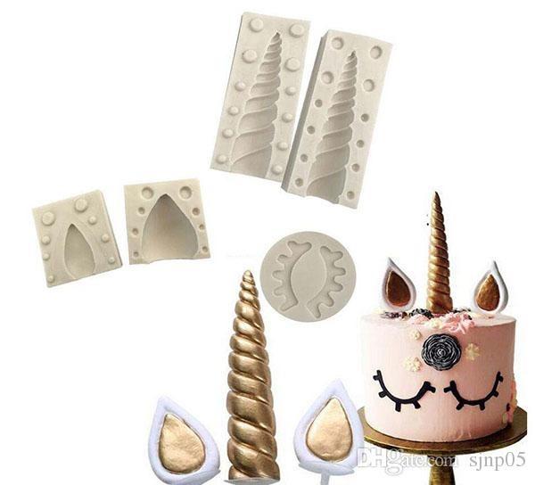 Silicone Unicorn Cake Mold Set With Ear Eyelashes Diy Fondant Mold