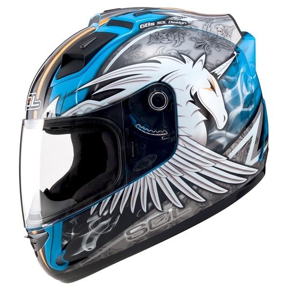 Sol68s Unicorn Motorcycle Helmet Belt Led Warning Light Dot
