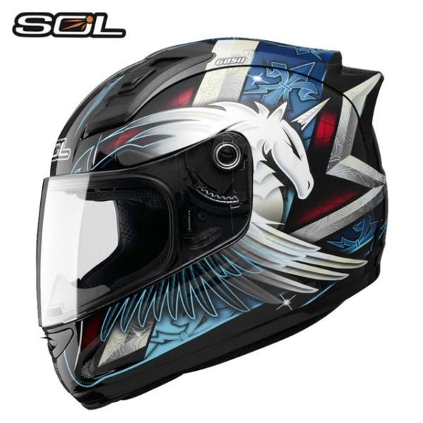 Sol Motorcycle Helmet Full Face Helmet Individuality Unicorn Men