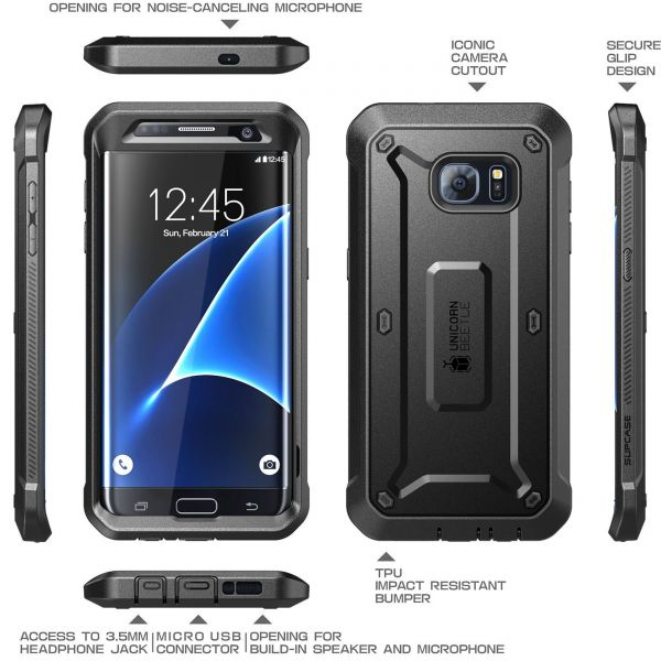 Supcase Unicorn Beetle Pro Holster Case For Samsung Galaxy S7 Edge