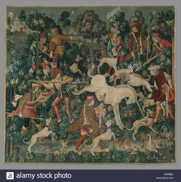 The Unicorn Defends Itself (from The Unicorn Tapestries)  Culture