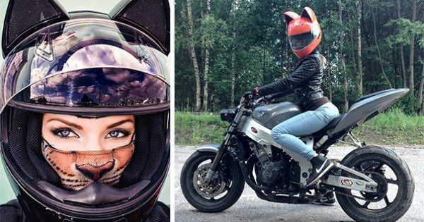 These Badass Cat Motorcycle Helmets From Russia Really Let The Fur Fly