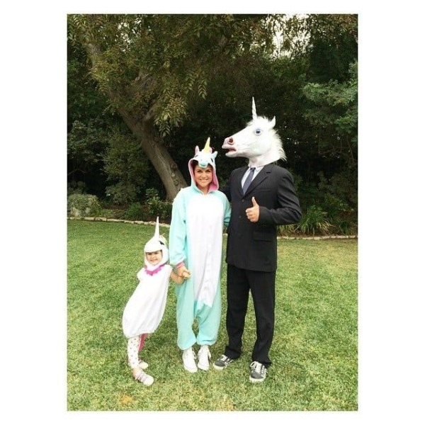 Tiffani Thiessen And Her Family As Unicorns