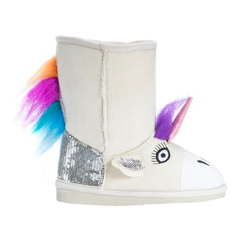 Toddler Girls' Muk Luks® Luna Unicorn Shearling Style Boots