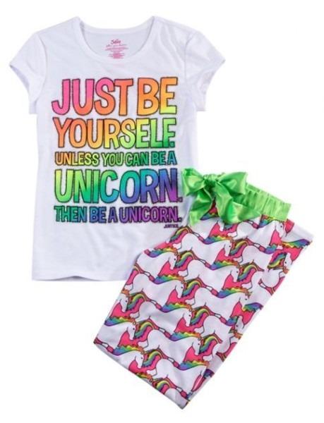 Unicorn 2 Piece Pajama Set
