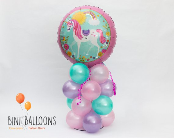 Unicorn Balloon Centerpiece Magical Unicorn Party Decoration