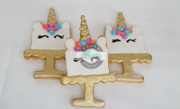 Unicorn Cake Iced Cutout Cookies From Cinotti's Bakery