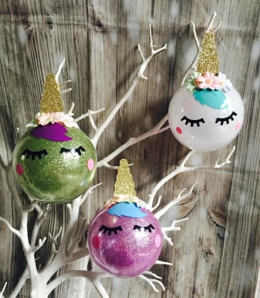 Unicorn Christmas Tree Decorations Unicorn Bubbles Unicton