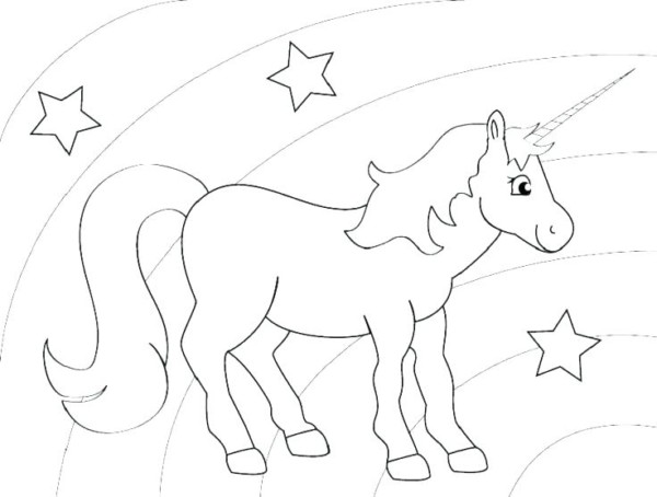 Unicorn Coloring Games Horse For Sheets Pages Rainbow Page