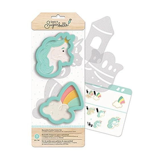 Unicorn Cookie Cutter Set, Sweet Sugarbelle Cookie Cutter Kit
